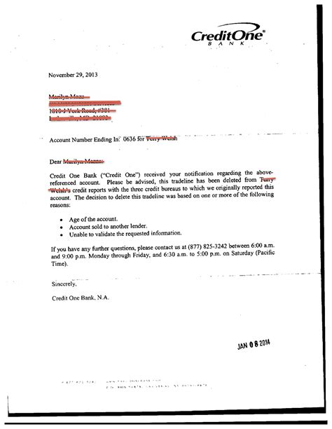 Dispute Letter To A Bank Section 609 Credit Report Dispute Letter