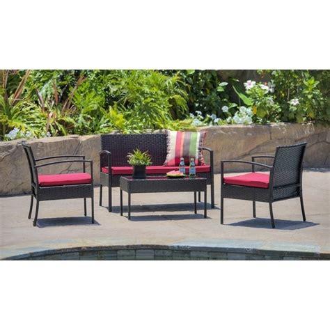 Hom Patio Furniture Thy Hom Teaset 4 All Weathyr Patio Conversation Set In Blm1111bkrd