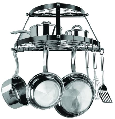 Range Kleen 2 Shelf Wall Mount Black Pot Rack by 5 Best Wall Mount Pot Rack Save More Space In Your