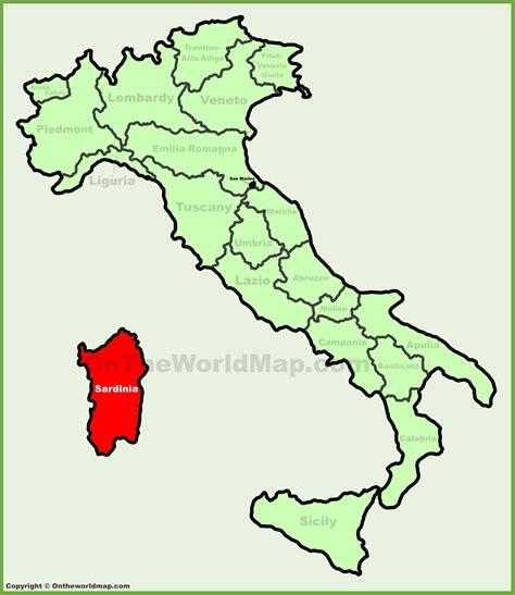 sardinia map sardinia location on the italy map