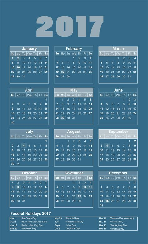 yearly calendar 2017 with holidays may 2016 2018 2017 calendar printable for free