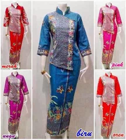 Setelan Wanita Baju Atas Bawah Blouse Sabrina Baju Murah Grosir setelan blouse batik atas bawah seri batik bagoes