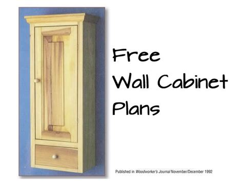 wall storage cabinet plans