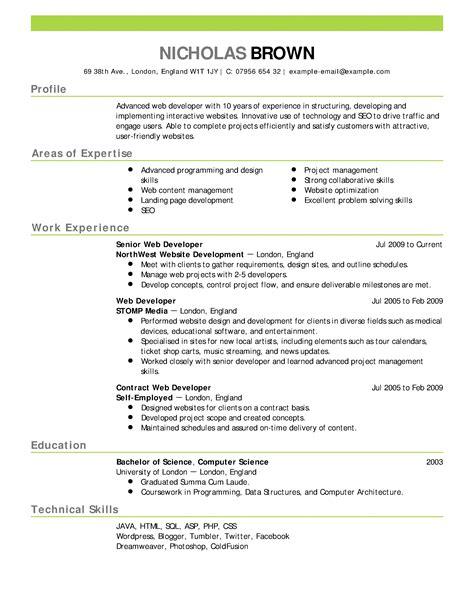 typical resume format resume formats and exles gentileforda