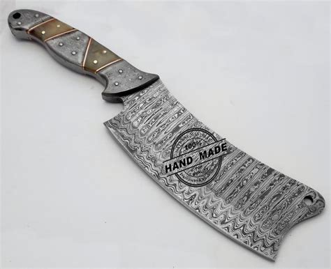 Kitchen Knives With Sheaths Amazing Damascus Chef S Cleaver Knife Custom Handmade Damascus