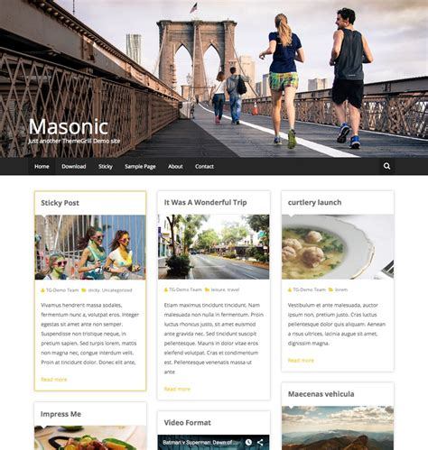 15 Best Free Personal Blog Wordpress Themes Templates 2016 Freemason Website Templates