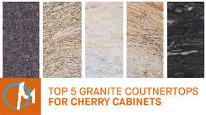 cherry kitchen cabinets with granite countertops