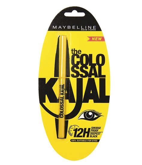 Eyeliner Colossal Kajal Maybelline Rs 150 maybelline colossal 12h black kajal 0 35 gm buy maybelline colossal 12h black kajal 0 35 gm