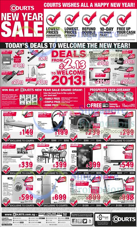 courts new year sale courts 1 jan 2013 187 courts new year sale one day offers 1