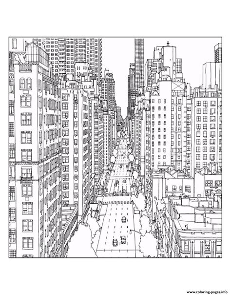 coloring books for adults new york times city new york 1st avenue and east 60th in