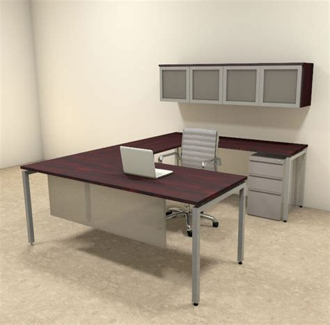 executive office desk set 5pc u shaped modern contemporary executive office desk set