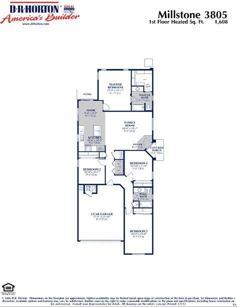 dr horton house plans dr horton millstone floor plan