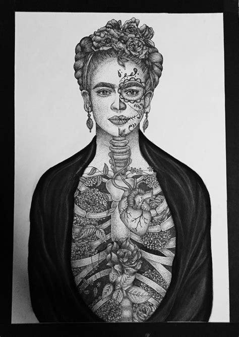 imagenes en blanco y negro de frida kahlo frida kahlo ilustra