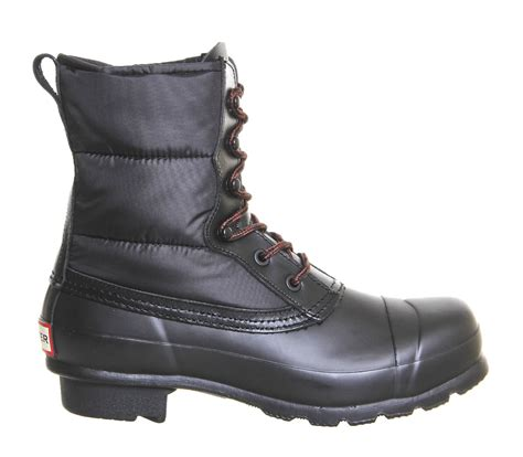 Original Blackmaster Low Boots Wings Black original quilted lace up black ankle boots