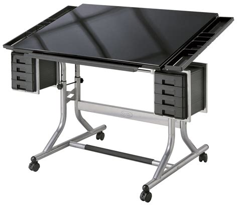 Best Drafting Table Alvin Craftsmaster Ii Glass Top Deluxe Drawing Table Rex Supplies