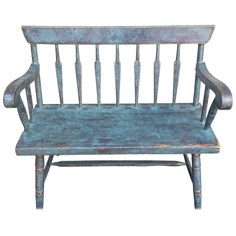 windsor bench for sale new england pine spear back windsor bench in turquoise