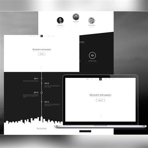 grayscale template free psd website templates for web designers and