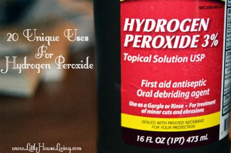 Hydrogen Peroxide Detox Drink by 20 Unique Uses For Hydrogen Peroxide