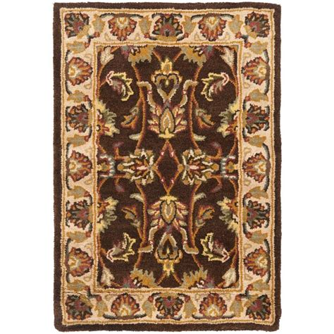 safavieh heritage brown ivory 3 ft x 5 ft area rug