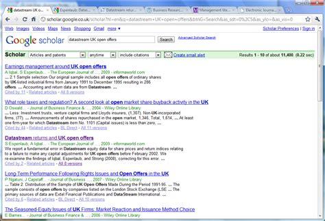 google scholar business research