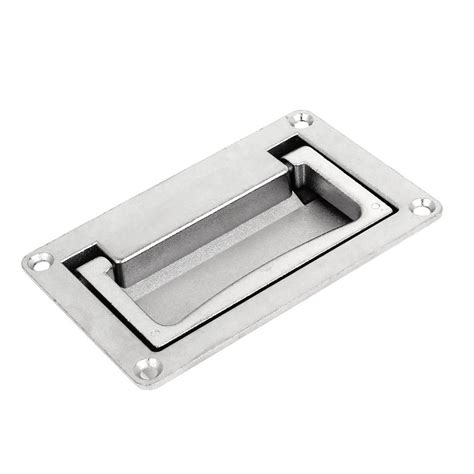 flush pull cabinet hardware 110mm x 70mm cabinet rectangular grip recessed flush pull