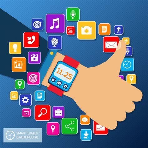 design app smartwatch smartwatch apps vector free download