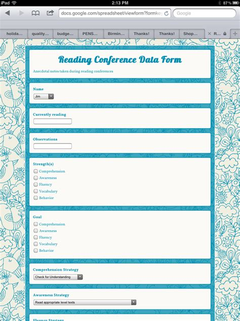 design html form for keeping student record think share teach give your anecdotal records a face