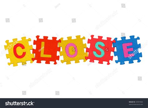 Closing Letter Crossword Letters Puzzle Word Isolated On White Background Stock Photo 43997065