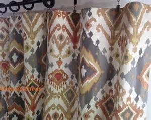 Ideas For Ikat Drapes Design Marvelous Design Ideas Ikat Curtains Orange Ikat Curtains