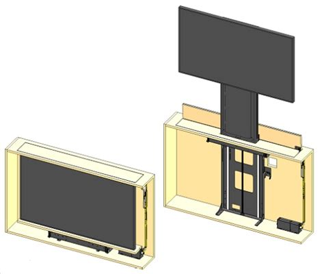 tv cabinet with lift system future automation lsm tu efa telescopic tv lift av