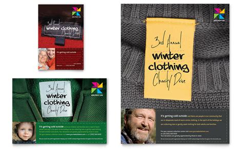 Winter Clothing Drive Flyer Ad Template Word Publisher Drive Templates Brochure