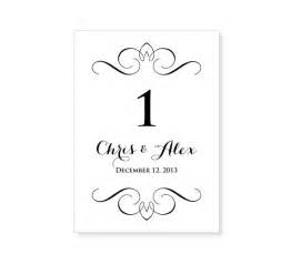 Free Table Number Templates by Instant Wedding Table Number Template By 43lucy