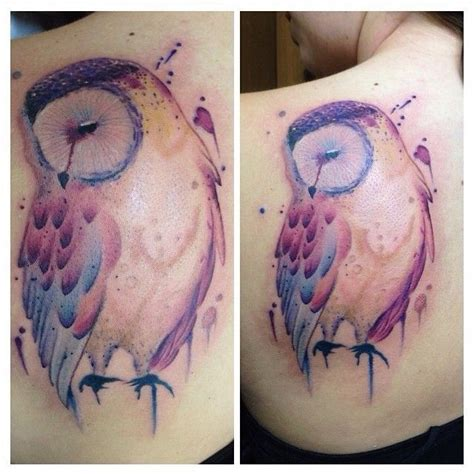 owl watercolor tattoo 12 best watercolor designs for the week pretty