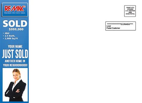 eddm template remax eddm just sold postcards