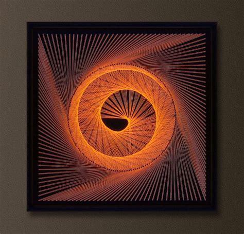 String 3d - uv wall in orange modern 3d string by