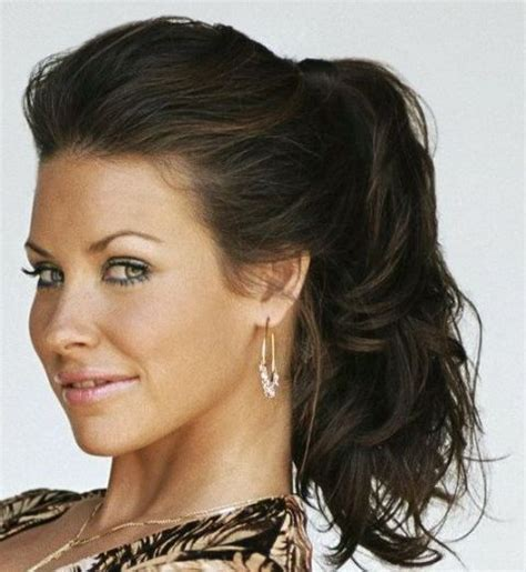 dressy ponytail hairstyles formal ponytail hairstyles canadian actress evangeline