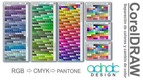 coreldraw separaci 243 n de colores cmyk rgb a pantone y viceversa adndc adanjp