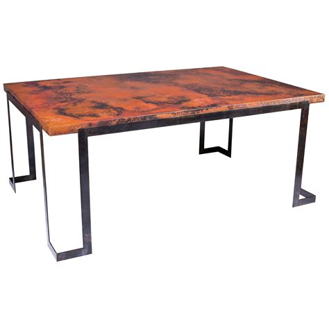 pictured is the steel rectangle dining table base
