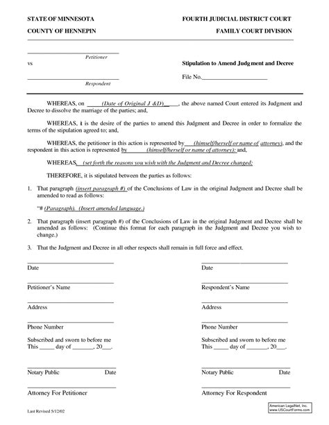 Exle Stipulation Agreement Letter best photos of blank stipulation form blank court order