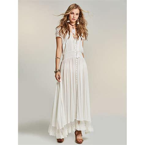30708 White Informal V Neck Dress Dress Kode Vc6136 1 s white v neck sleeve split maxi dress n14525