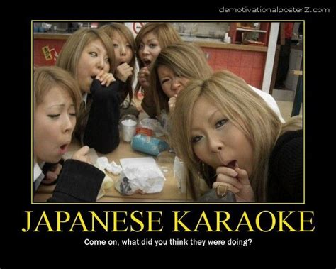 Asain Meme - japanese karaoke motivational poster