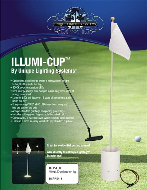 Unique Lighting Systems by Illumi Cup By Unique Lighting Systems Golf Cup Light
