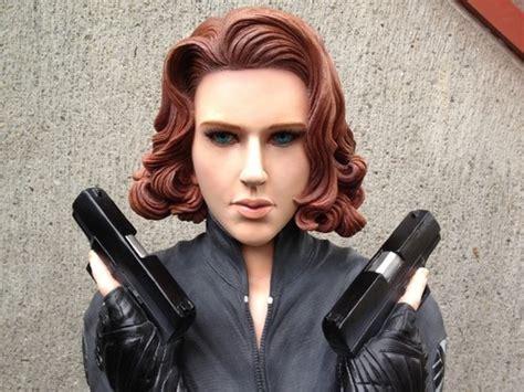 Termurah Custom Blackwidow 3 custom black widow size bust statue 1 1 for sideshow toys collectors toys sideshow