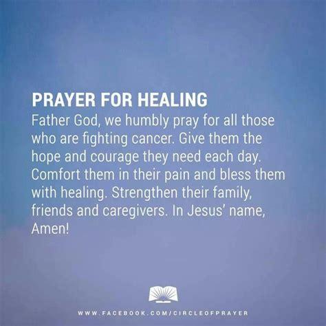 prayer for healing prayers cancer prayer
