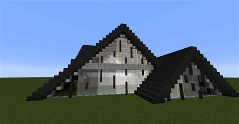 build an a frame house mode minecraft java edition mansion brick youtube