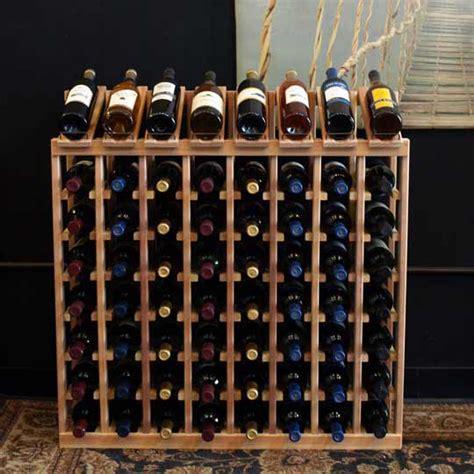 Best Wine With Rack Of 64 bottle display view wine rack kit in premium redwood