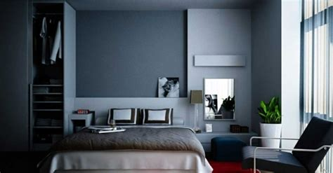 Blue And White Contemporary Bedroom Design Ideas Slate Blue Wall Wall Design Ideas With Blue Hues
