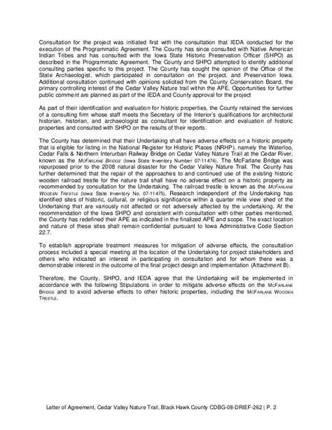 Black Letter Publication letter of agreement loa black hawk county bridge