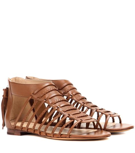 ralph sandal polo ralph jadine leather gladiator sandals in