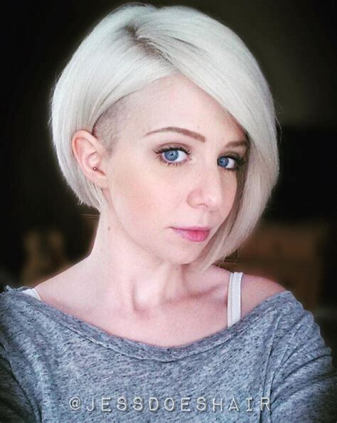 shaved bob haircuts 27 stylish fancy undercut hairstyle check out chic glam